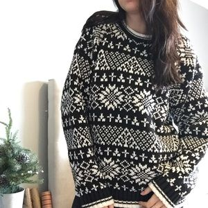 GAP Chunky Knit Crew Neck Christmas Sweater